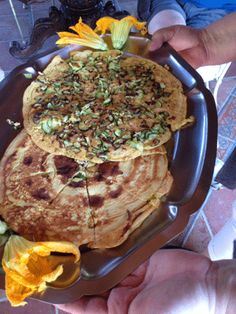 Chickpea Pancakes with Zucchini and Garlic
