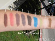 MAC Eyeshadow: Satin, Swatches, Photos, Reviews