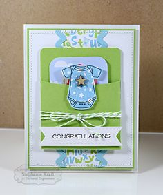 Congratulations Baby Card & Gift Card Holder by Stephanie Kraft #Baby   By Taylored Expressions Little Bits Stamps