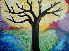 Acrylic paint, size 85×95 cm