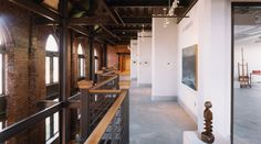 one of my favorite adaptive reuse projects. McColl Center for the visual arts.