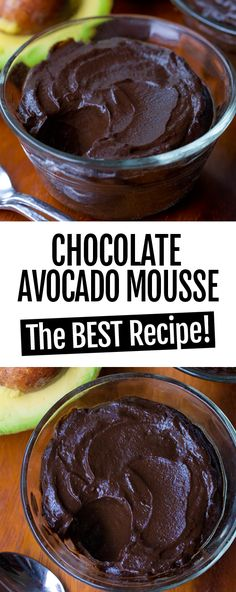Avocado Chocolate Mousse – TWO Recipes! The Best Super Healthy Chocolate Avocado Mousse Paleo Dessert, Dessert Recipes, Avocado Dessert, Potluck Recipes, Cocoa Powder Recipes, Cena Keto, Desserts Sains, Avocado Recipes, Low Carb Desserts