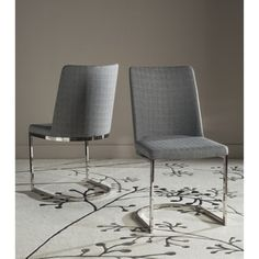Shop for Safavieh Mid-Century Dining Parkston Modern Linen Grey Side Chairs (Set of 2). Get free shipping at Overstock.com - Your Online Furniture Outlet Store! Get 5% in rewards with Club O!