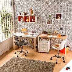 Decora tu lugar de estudio con un estilo propio combinando diversas sillas #Sodimac #Homecenter #sillas #escritorio  #espacio #hogar #inspiración #decoracion #homedecor