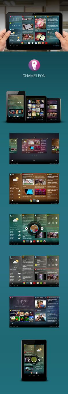 """Chameleon *** """"A home screen designed to fit your lifestyle."""""""