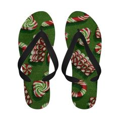 Christmas Candy flip flop sandals