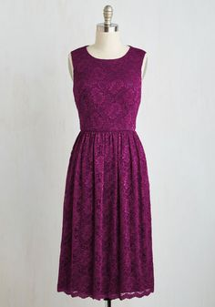 Boundless Brilliance Dress - Pink, Lace, Solid, Wedding, Daytime Party, Bridesmaid, A-line, Sleeveless, Woven, Better