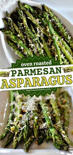 The whole family will love this Thanksgiving side dish! Not only is this oven roasted garlic and parmesan asparagus healthy, but it is also full of flavor. Plus, you only need 5 ingredients for this easy Thanksgiving dinner recipe! Roasting Garlic In Oven, Oven Roast, Thanksgiving Side Dishes, Thanksgiving Dinner Recipes, Holiday Side Dishes, Vegetable Side Dishes, Side Dishes Easy, Parmesan Asparagus, Roasted Garlic