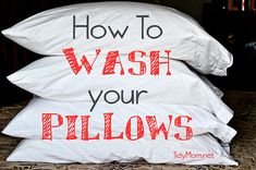 How to wash and care for your pillows at TidyMom.net