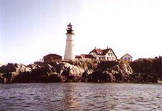 Trundys reef below Portland headlight, Maine