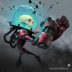 Lines by Creaturebox, my Colors! Arte Robot, Robot Art, Character Concept, Character Art, Character Design, Arte Cyberpunk, Robot Concept Art, Arte Horror, Monster