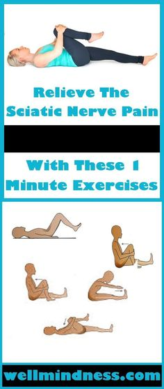 If you want to relieve the sciatic nerve pain without using the help of a physical therapist simply do these exercises.