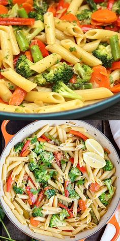 Veggie Pasta Recipes, Healthy Pasta Dishes, Vegetable Pasta, Easy Pasta Recipes, Healthy Pastas, Vegetarian Recipes, Easy Meals, Cooking Recipes, Healthy Recipes