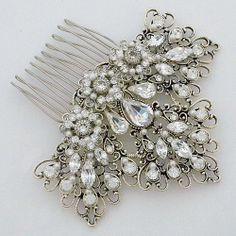 Laura Jayne Bridal Hair Accessories | Regalia Crystal Bridal Hair Comb