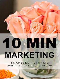 10 Min Marketing Snapseed App Tutorial