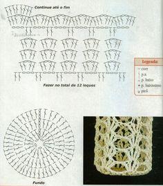 Crochet ideas that you'll love Freeform Crochet, Crochet Motif, Crochet Doilies, Crochet Stitches, Knit Crochet, Crochet Patterns, Granny Square Crochet Pattern, Crochet Diagram, Crochet Chart