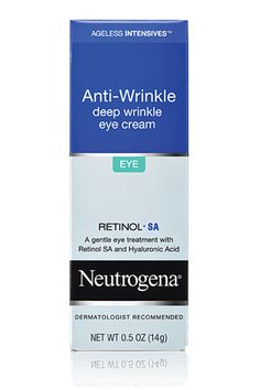 Despite having retinol in it, this cream isn't irritating at all, and it works just as well as the heavy-duty brands that come with a much heftier price tag. Neutrogena Ageless Intensives Deep Wrinkle Eye Cream
