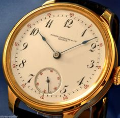 PATEK PHILIPPE & CO GENEVA 20 JEWELS GOLD CHRONOMETER - 1898