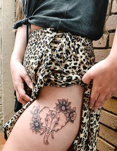 Flower Spine Tattoos, Cool Forearm Tattoos, Leg Tattoos, Tatoos, Sunflower Tattoo Small, Sunflower Tattoos, Sunflower Tattoo Design, Elephant Tattoo Design, Elephant Tattoos