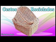 Cesto de mimbre reciclado - DIY, decoupage y manualidades - YouTube Decoupage, Diy, Make It Yourself, Blog, Handmade, Basket, Ideas, Lifehacks, Wicker Baskets