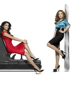 Angie Harmon and Sasha Alexander as Rizzoli & Isles in 2011 Promo. Gorgeous. Long legs and sexy high heels.