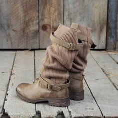 Load image into Gallery viewer, Comfy Cabin Boots Vintage PU Paneled Adjustable Buckle Casual Boots Gyaru, Soft Grunge, Mid Calf Boots, Knee High Boots, Riding Boots, Combat Boots, Casual Winter Boots, Outfit Winter, Toms