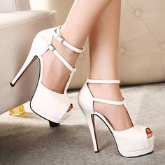 Ankle straps high #heel shoes