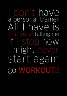 Even though I am a personal trainer lol