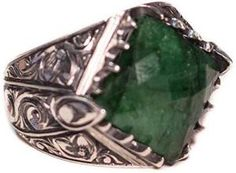 Mens Emerald Ring brings good luck and enhances well being of the wearer. Emerald is the stone of successful love and grants loyalty to its wearers. Mens Emerald Rings, Emerald Gemstone, Diamond Rings, May Birthstone Rings, Tungsten Wedding Bands, Natural Emerald, Topaz Ring, Silver Man, Natural Gemstones