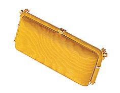 Love tis mustard clutch!                              Diane von Furstenberg