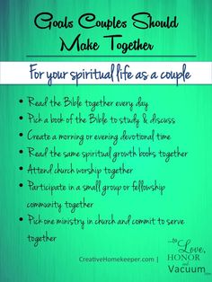 Goals to Make as a Couple: For Your Spiritual Life