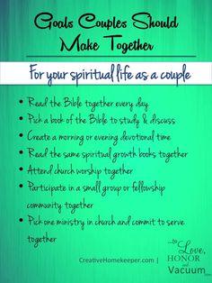 Goals to Make as a Couple: For Your Spiritual Life