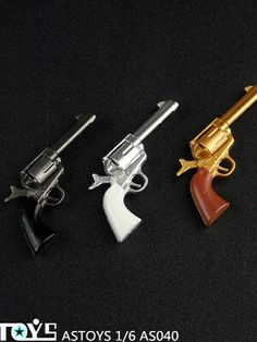 "1//6 Scale ASTOYS AS040 Colt P18520 Cowboy Revolver Weapon Gun Toy F 12/"" Soldier"