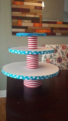 Diy dr seuss theme cupcake stand for the little bundtinis? 2nd Baby Showers, Baby Shower Themes, Baby Boy Shower, Dr Seuss Baby Shower Ideas, Dr Seuss Birthday Party, 1st Birthday Parties, Birthday Ideas, Dr. Seuss, Twin First Birthday
