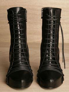 Ann Demeulemeester Women's Vitello Lace Boot