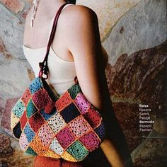 Patrón Bolso a Crochet. Bermuda, Shoulder Bag, Bags, Fashion, Handbag Patterns, Boleros, Purses, Handbags, Moda