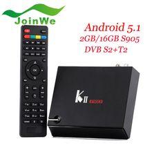 High-tech quad core 2G 16G Android 5.1 1 DVB S2 T2 KII Pro Combo TV box kodi 4k satellite receiver KII PRO
