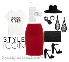 """""""Styled by fashioniswhoiam™"""" by dominique-nicole-brooks on Polyvore featuring Paule Ka, Tommy Hilfiger, Yves Saint Laurent and LULUS"""