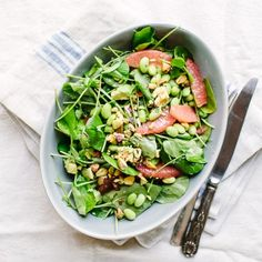 Avocado and Grapefruit Salad with Edamame Recipe