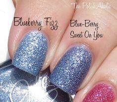 JulieG Blueberry Fizz vs Nicole by OPI Blue-Berry Sweet On You