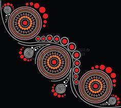 aboriginal painting: Illustration based on aboriginal style of dot painting. Aboriginal Symbols, Aboriginal Dot Painting, Dot Art Painting, Mandala Painting, Painting Patterns, Aboriginal Tattoo, Encaustic Painting, Indigenous Australian Art, Indigenous Art