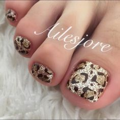 Tiger Nails, Leopard Print Nails, Pedicure Designs, Pedicure Nail Art, Toe Nail Designs, Toe Nail Art, Pretty Toe Nails, Cute Toe Nails, Toenails