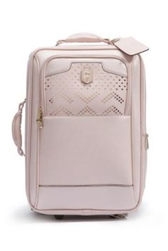 Guess Roller Suitcase in Blush! Pink Luggage, Cute Luggage, Travel Luggage, Travel Bags, Luggage Sets, Cute Suitcases, Trolley Bags, Travel Items, Backpack Purse