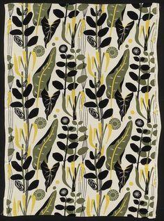 'Palamos' furnishing fabric designed by Chalmers for Elizabeth Eaton Ltd. Great Britain, 1953   VA Museum, London