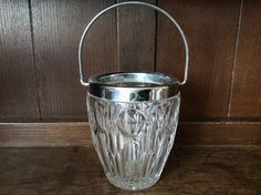 Vintage French small ice bucket cooler bar decor by EnglishShop