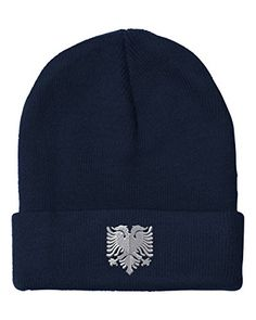 Albanian Eagle Silver Embroidery Embroidered Beanie Skully Hat Cap Navy - http://todays-shopping.xyz/2016/08/04/albanian-eagle-silver-embroidery-embroidered-beanie-skully-hat-cap-navy/