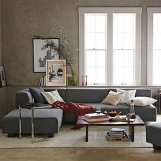 Tillary Set 2 (1 Sofa 2 Ottomans 1 Corner Cushion 2 Back Supports) Performance Velvet Lagoon : west elm tillary sectional - Sectionals, Sofas & Couches