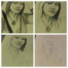 Self Portrait 2015 - Progress by Amy Suzanne Taggart aka Amz  #amzart #artist #artwork #sketch #drawing #art #illustration