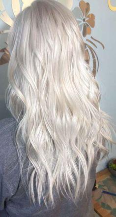 51 Ideas For Hair White Silver Platinum Blonde Haircuts - Trend Platinum Hair Makeup 2019 Ice Blonde Hair, Silver Blonde Hair, Icy Blonde, Blonde Color, Bleach Blonde Hair, Silver Platinum Hair, Platnium Blonde Hair, Platinum Blonde Highlights, Silver White Hair