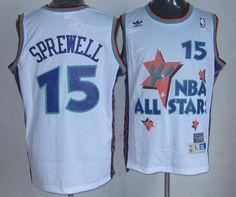 97494dcbd Warriors  15 Latrell Sprewell White 1995 All Star Throwback Stitched NBA Jersey  Latrell Sprewell